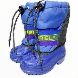 Sorel Blue Winter Boots with Removable Inserts